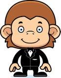 Cartoon Smiling Groom Monkey Royalty Free Stock Photos