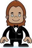 Cartoon Smiling Groom Sasquatch Royalty Free Stock Photos