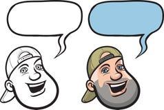 Cartoon smiling guy face. Vector illustration of cartoon smiling guy face vector illustration