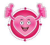 Cartoon Smiling heart icon Royalty Free Stock Image
