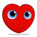 Cartoon smiling heart illustration. Royalty Free Stock Photo