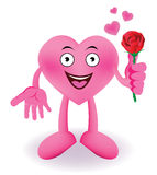 Cartoon Smiling heart Royalty Free Stock Photo