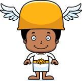 Cartoon Smiling Hermes Boy Royalty Free Stock Photos