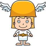 Cartoon Smiling Hermes Girl Stock Photos