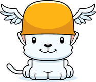 Cartoon Smiling Hermes Kitten Royalty Free Stock Photos