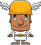 Cartoon Smiling Hermes Man Stock Photo