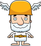 Cartoon Smiling Hermes Man Royalty Free Stock Photo
