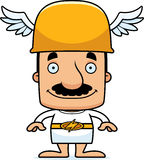 Cartoon Smiling Hermes Man Royalty Free Stock Photography