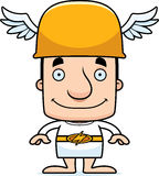 Cartoon Smiling Hermes Man Royalty Free Stock Images