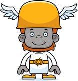 Cartoon Smiling Hermes Orangutan Royalty Free Stock Image