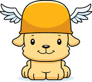 Cartoon Smiling Hermes Puppy Stock Photo