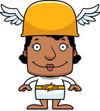 Cartoon Smiling Hermes Woman Stock Image