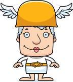 Cartoon Smiling Hermes Woman Stock Photo