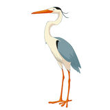 Cartoon smiling Heron Royalty Free Stock Photos