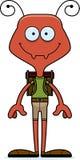 Cartoon Smiling Hiker Ant Stock Photos