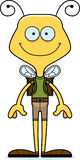Cartoon Smiling Hiker Bee Royalty Free Stock Photo