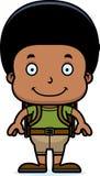 Cartoon Smiling Hiker Boy Royalty Free Stock Photo