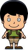 Cartoon Smiling Hiker Boy Stock Image