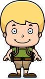 Cartoon Smiling Hiker Boy Stock Photo