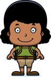 Cartoon Smiling Hiker Girl Stock Photos