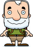 Cartoon Smiling Hiker Man Royalty Free Stock Photo