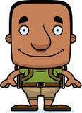 Cartoon Smiling Hiker Man Royalty Free Stock Photos