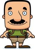 Cartoon Smiling Hiker Man Stock Photography