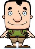 Cartoon Smiling Hiker Man Stock Images