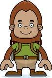 Cartoon Smiling Hiker Sasquatch Stock Photo
