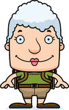 Cartoon Smiling Hiker Woman Royalty Free Stock Images