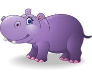 Cartoon smiling hippo Royalty Free Stock Photos