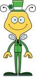 Cartoon Smiling Irish Bee Royalty Free Stock Image