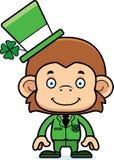 Cartoon Smiling Irish Monkey Royalty Free Stock Photography