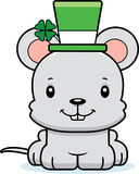 Cartoon Smiling Irish Mouse Royalty Free Stock Photography