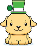 Cartoon Smiling Irish Puppy Stock Photography