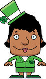 Cartoon Smiling Irish Woman Stock Photo