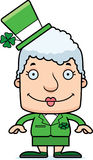 Cartoon Smiling Irish Woman Royalty Free Stock Photo