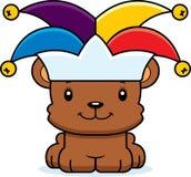 Cartoon Smiling Jester Bear Royalty Free Stock Photos