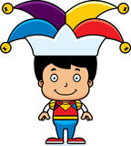 Cartoon Smiling Jester Boy Royalty Free Stock Images