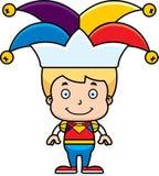 Cartoon Smiling Jester Boy Royalty Free Stock Photography