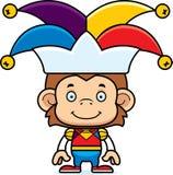 Cartoon Smiling Jester Monkey Stock Images