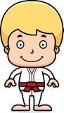 Cartoon Smiling Karate Boy Royalty Free Stock Photography