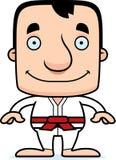 Cartoon Smiling Karate Man Royalty Free Stock Image