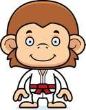 Cartoon Smiling Karate Monkey Stock Photography