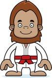 Cartoon Smiling Karate Sasquatch Stock Photography