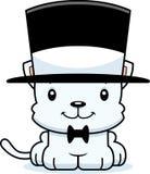 Cartoon Smiling Kitten Top Hat Stock Photos