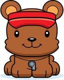 Cartoon Smiling Lifeguard Bear Royalty Free Stock Photos