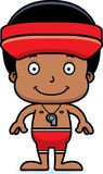 Cartoon Smiling Lifeguard Boy Stock Photos
