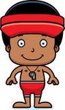 Cartoon Smiling Lifeguard Boy Stock Photos