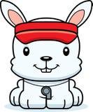 Cartoon Smiling Lifeguard Bunny Royalty Free Stock Photos